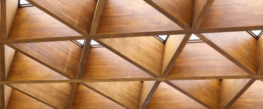 Luxurious,Geometric,Wooden,Triangles,In,Construction.,The,Concept,Of,Modern